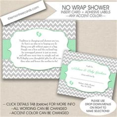 Baby Shower No Wrapping Paper Wording by Display Baby Shower We Enclosed These Notes With Our