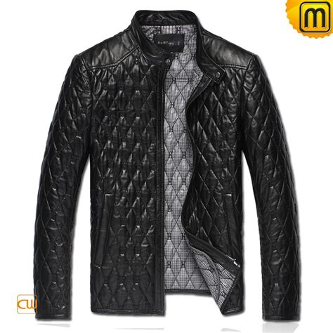 Quilted Leather Jackets by S Black Quilted Leather Jacket Cw821001