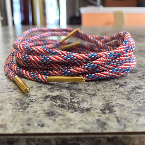 usa american flag rope laces shoelaces kith ronniefieg
