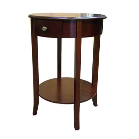 ORE International Polished Round End Table by OJ Commerce H 125N   $134.99