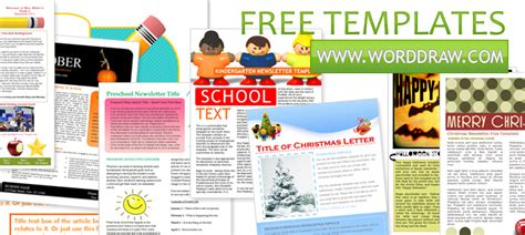 Worddraw Com Free Newsletter Templates For Microsoft Word Free Magazine Layout Templates For Publisher