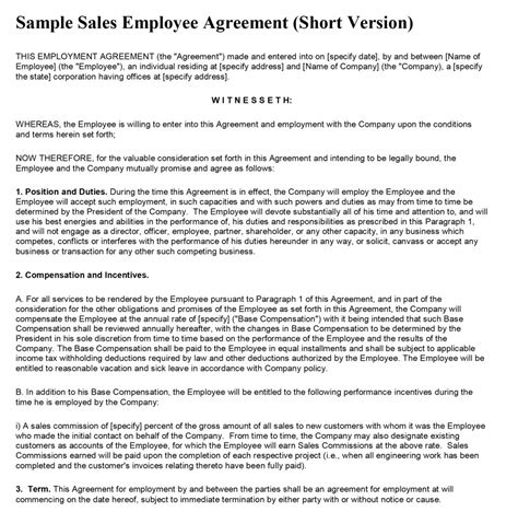 sales agreement template word sales contract template free microsoft word templates
