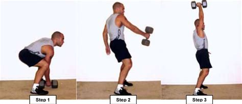 one arm dumbbell swing exercise list