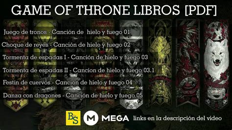 libro a game of thrones game of thrones saga completa libros pdf mega 2017 youtube