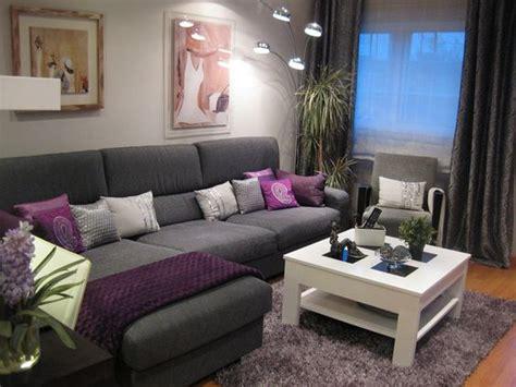 decoracion de living room salas gris con morado buscar con google organizador