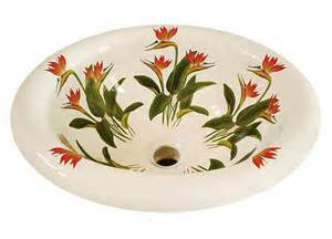 painted sinks in the bathroom bird of paradise painted sink jpg