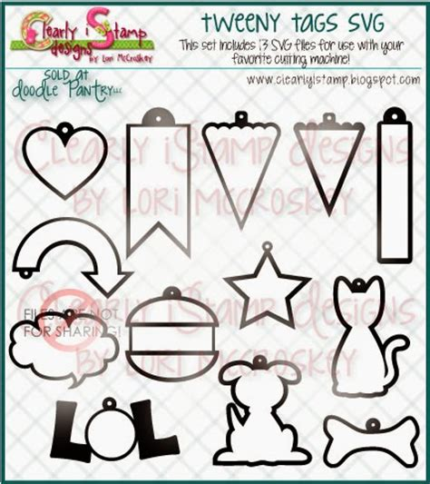 Tweeny Lunch Set clearly ist march 2014 release prize scrapbook svg