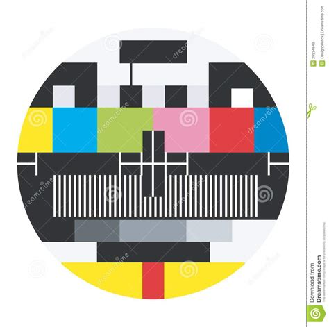 3x4m Greyscreen Broadcast Tv Quality blank tv signal stock vector image of broadcasting clear 29534643