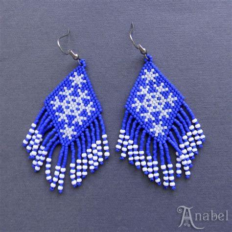 pattern for beaded christmas earrings free pattern for peyote earrings snowflakes beads magic