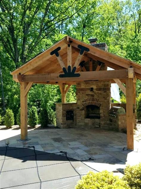 plans backyard pavilion plans home design and idea for