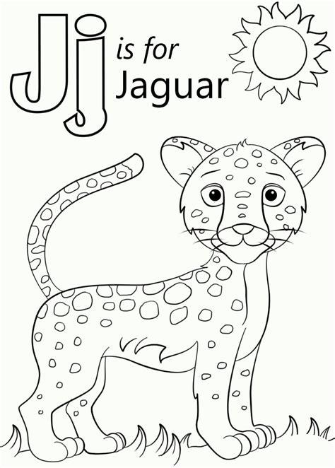 what color is a jaguar j is for jaguar coloring pages