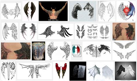 devil wings tattoo designs wings meanings itattoodesigns