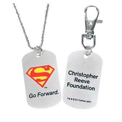 christopher reeve org superman tags christopher reeve foundation superman dog tag