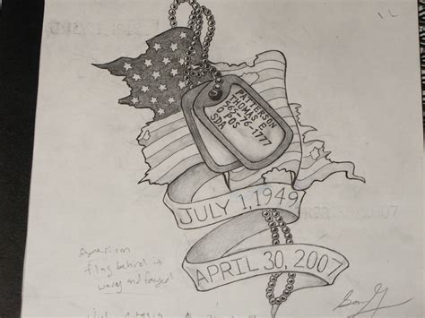 soldier memorial tattoo design tag tattoos for memorial tag by