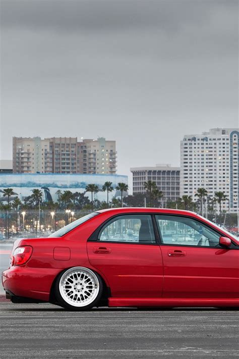 slammed cars iphone wallpaper cars tuning subaru impreza slammed wallpaper