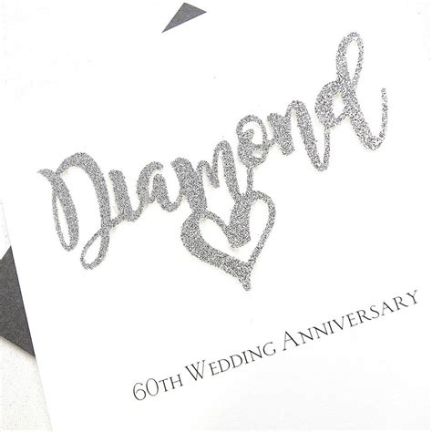 60th wedding anniversary 60th wedding anniversary card by the hummingbird