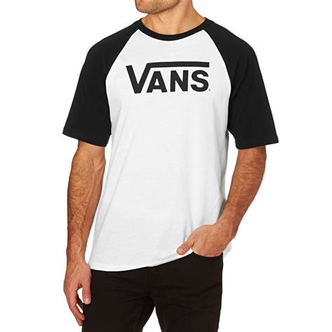 T Shirt Vans 1 vans vans classic raglan t shirt white black free uk delivery