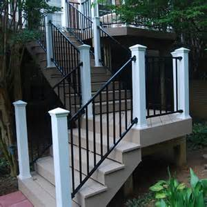 Trex Stair Railing by Fortress Fe26 Iron Rake Adjust A Rail Stair Panel The