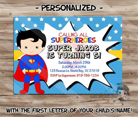 superman birthday card template superman birthday invitations printable home
