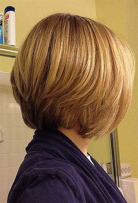 graduated bob from the back graduated layered bob back view www pixshark com