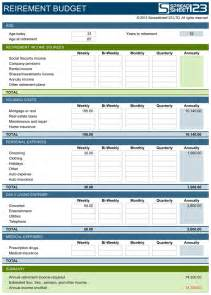 Retirement Planning Spreadsheet Templates by Retirement Budget Planner Free Template For Excel