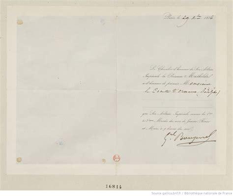 Modèle Lettre D Invitation D Honneur Lettre D Invitation Adress 233 E Par Le Chevalier D Honneur De La Princesse Mathilde Au C Te