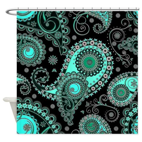 pink paisley curtains aqua pink paisley shower curtain by ibeleiveimages