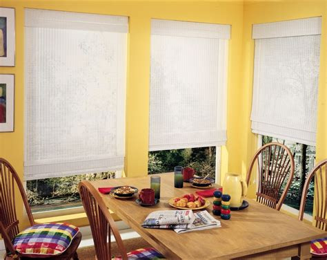 yellow kitchen blinds yellow kitchen with white bamboo shades bamboo woven