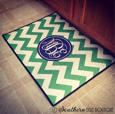 Items Similar To Monogrammed Door Mat Indoor And Outdoor Monogram Front Door Mat