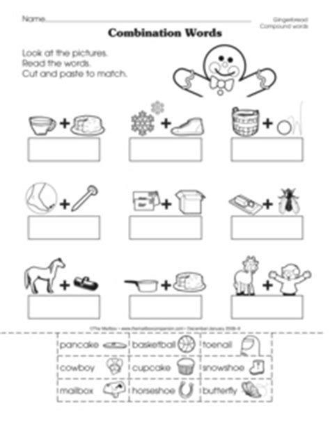 christmas compound words worksheet results for christmas compound words guest the mailbox