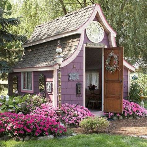 cute garden sheds cute garden shed or is it a mini home outhouse ideas pinterest