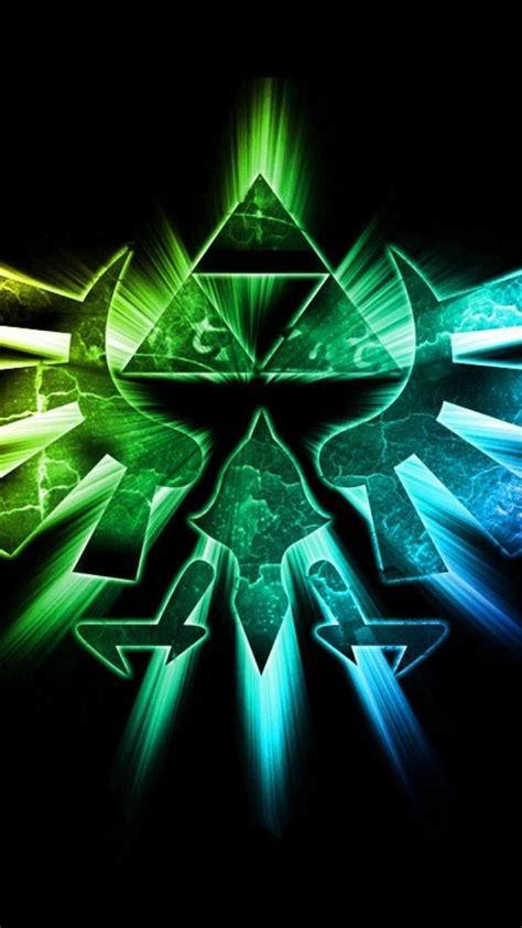 triforce  legend  zelda vivid colors wallpaper