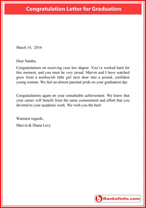 graduation certification letter sle letter to high school senior sle letter of
