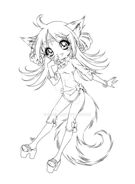 cute fox girl coloring pages fox girl by sureya on deviantart
