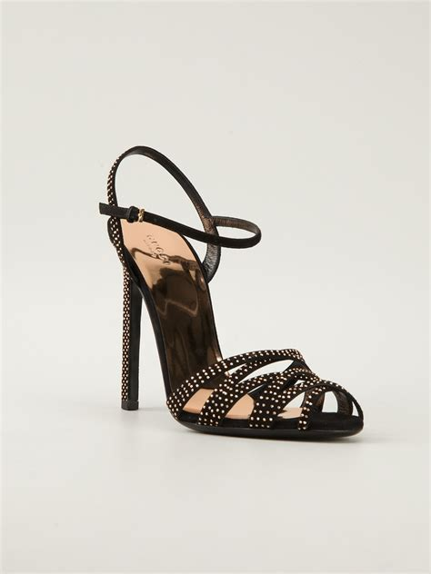 gucci high heel gucci high heel sandals in black lyst
