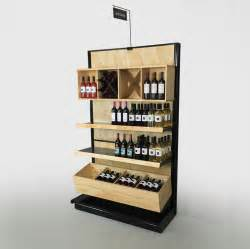 black gondola shelving wood liquor store shelving wall