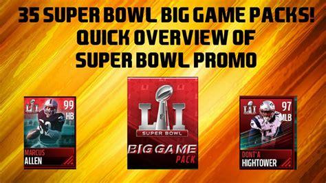 Denied For Superbowl Promo by 35 Bowl Big Packs Promo Overview Madden