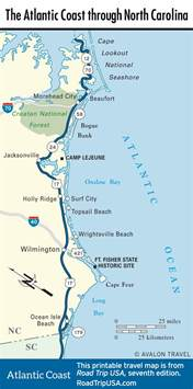 map carolina coast carolina road trip usa