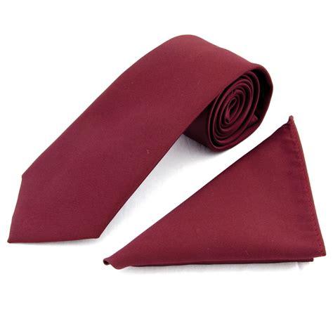 tiesrus plain burgandy satin classic men s tie and pocket