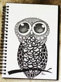 doodle owls illustration marichris