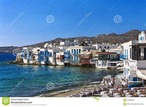 lade veneziane venice mykonos stock image image of turquoise