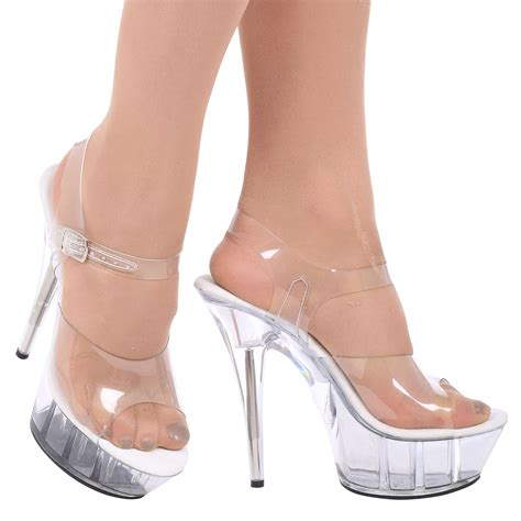 charmaine womens clear stilettos high heels platforms