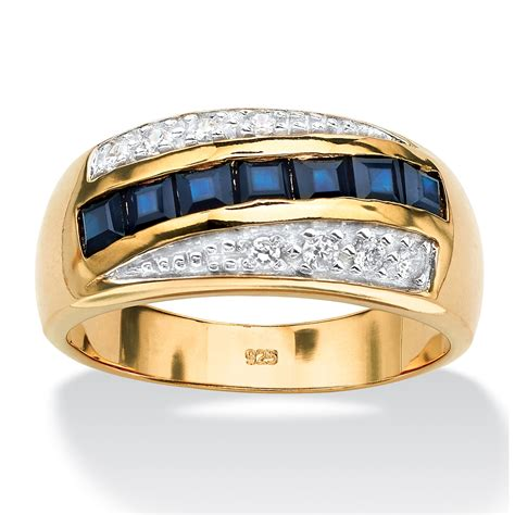 Gc126 Tas Fashion Import Square Chain Gold palmbeach jewelry s 1 95 tcw sapphire cz ring 18k gold 925 silver ebay