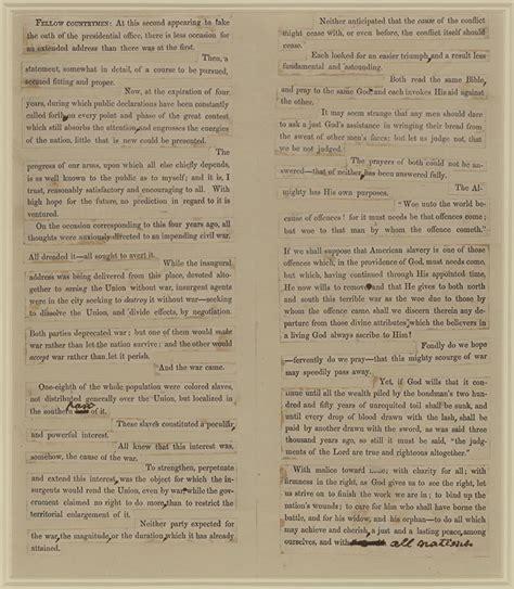 lincoln inaugural address 1865 march 4 1865 lincoln s second inaugural address crossroads