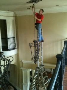 How To Install Chandelier Chandelier Installation Atlanta