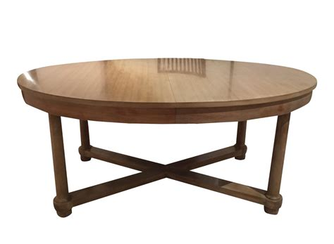 baker dining table barbara barry for baker oval dining table chairish
