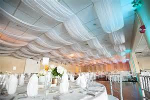 How To Drape Fabric From Ceiling draping fabric from the ceiling wedding images