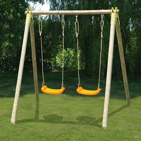 large round swing trigano jardin alfy double swing set all round fun