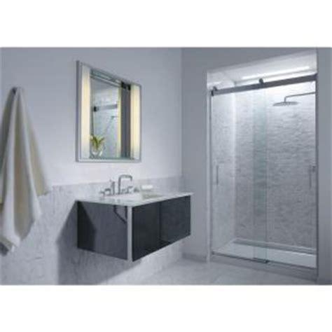 Kohler Levity Shower Door Kohler Levity 47 5 8 In X 74 In Heavy Frameless Sliding Shower Door With Clear Glass