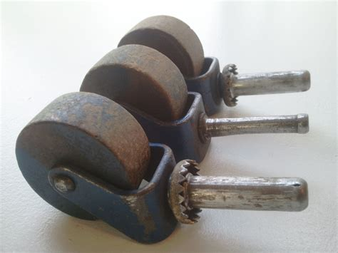 antique wood furniture casters wheels